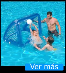 Juguetes para piscina: portería
