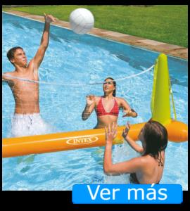 Juguetes para piscina: red de volley flotante