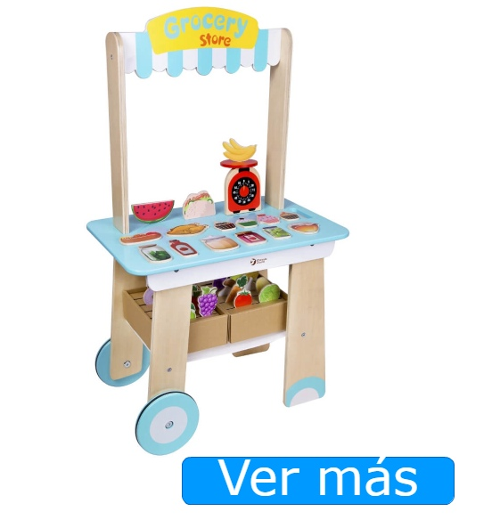 Mercado de juguete de madera Classic World