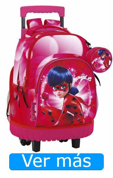 Mochilas Ladybug trolley rosa