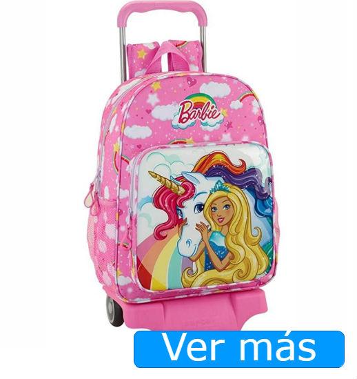 Mochilas de unicornios: mochila Barbie con trolley