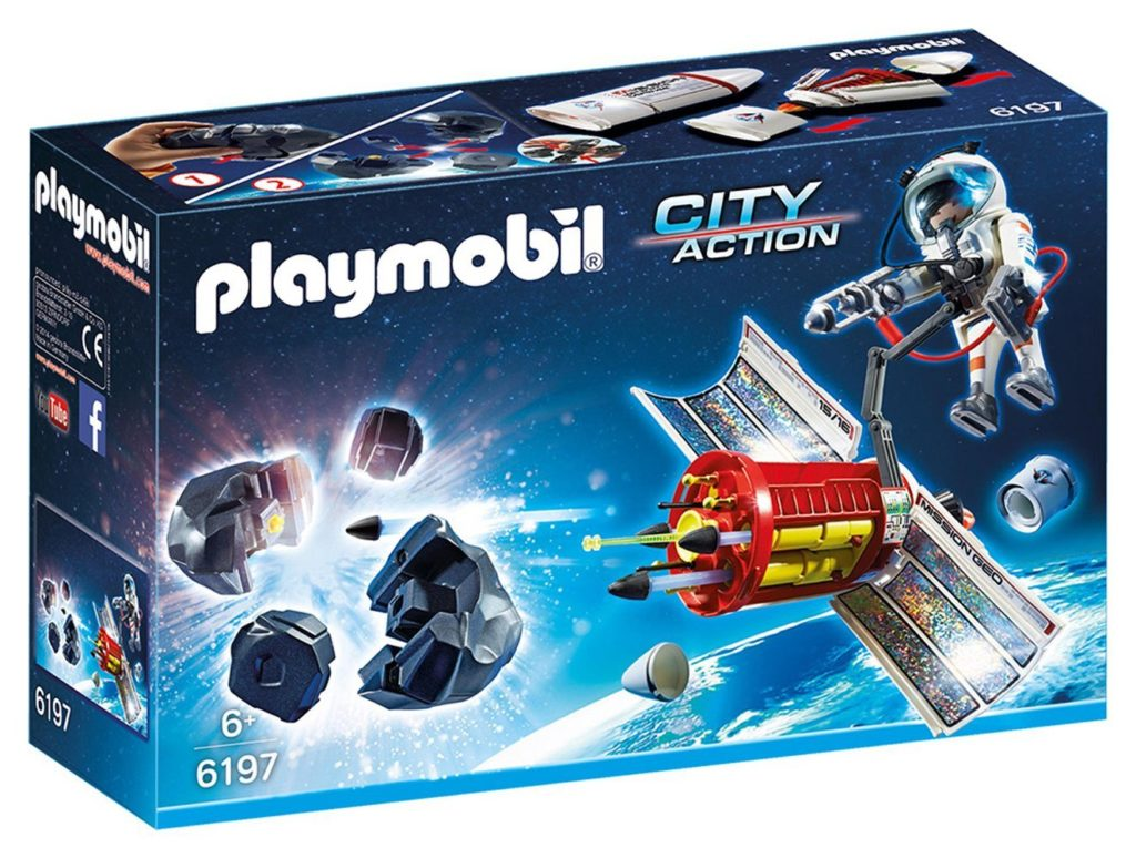 Juguetes de astronauta: Playmobil astronauta y satélite