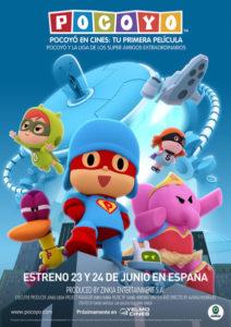 Cartel de la película de Pocoyó: Pocoyó y la liga de los amigos extraordinarios