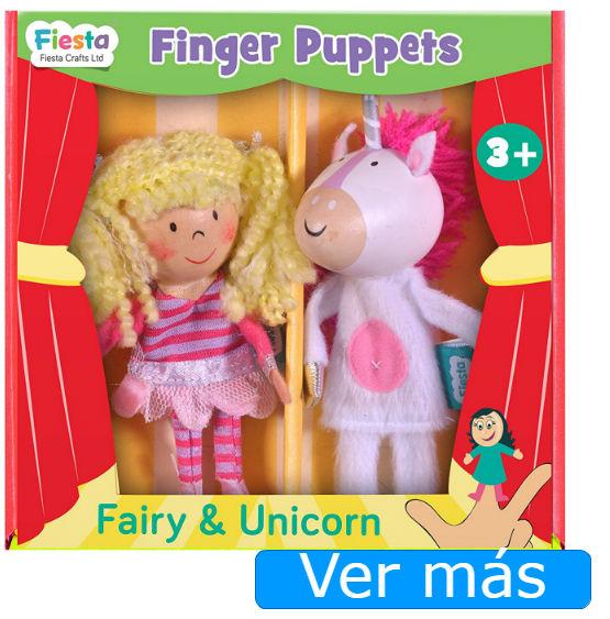 Unicornio y hada marionetas