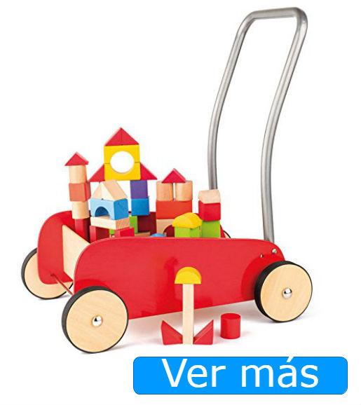 bloques de madera con carro andador