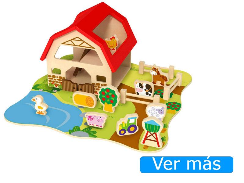 Animales de madera granja Tooky Toy