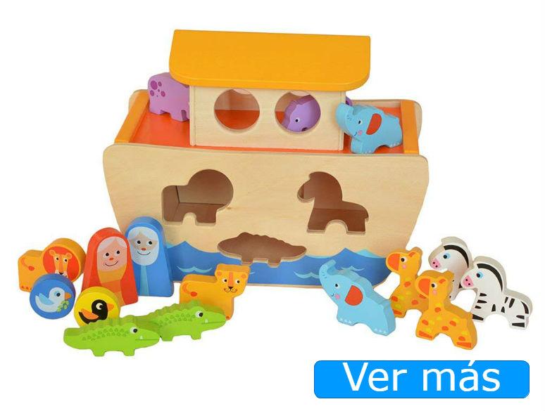 Animales de madera y arca de Noé