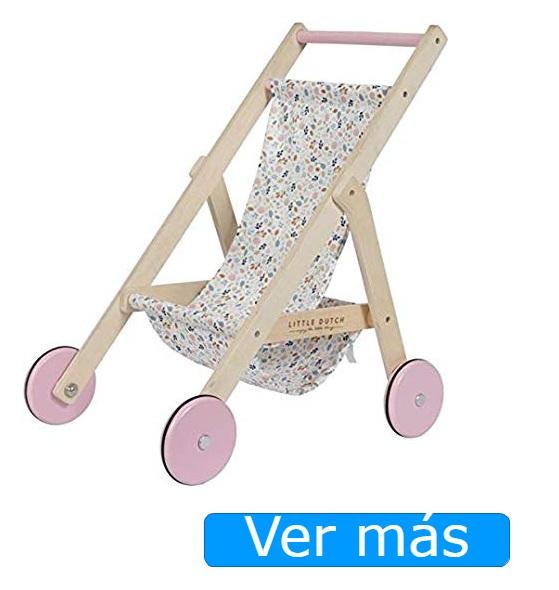 Carrito de muñecas de madera silla Little Dutch