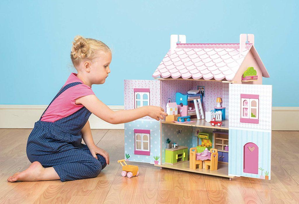 Casa de muñecas de madera Le Toy Van rosa