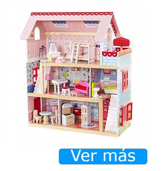 30 piezas Muebles de muñecas cocina casa de muñecas muebles de madera de haya