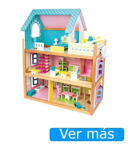 Casa de muñecas de madera con ascensor Small Foot