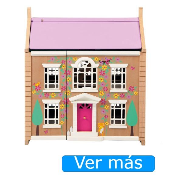 Casa de muñecas de madera para niños Tidlo