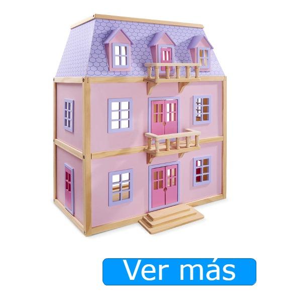 Casa de muñecas victoriana de madera