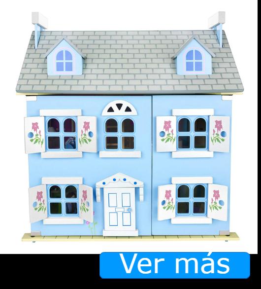 Casa de muñecas de madera Leomark azul