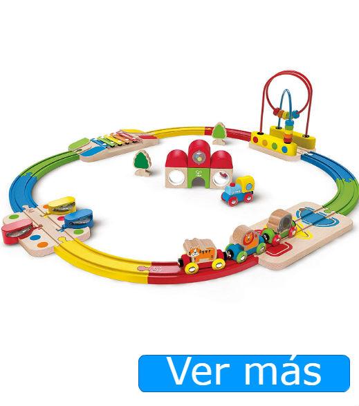 Circuito de tren de madera musical de Hape