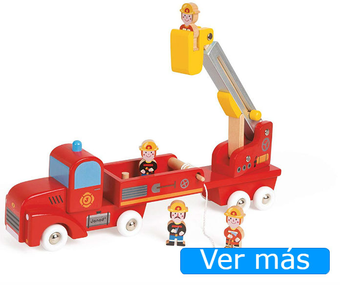 Camión bomberos madera Janod