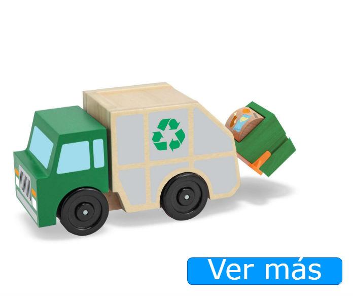 Coches de madera: camión de la basura Melissa&Doug