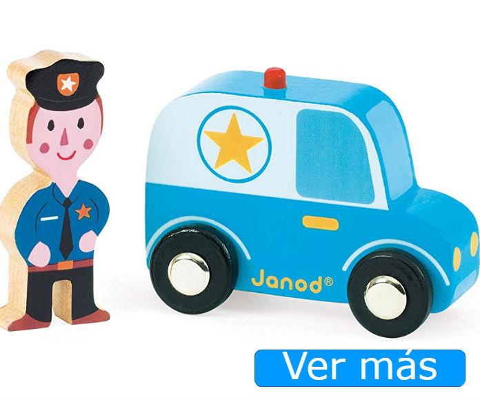 Coches de madera: coche policía de Janod