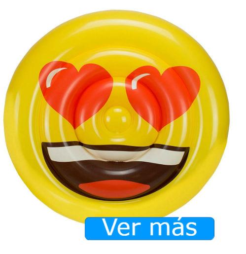 Flotadores gigantes Amazon emoji corazones