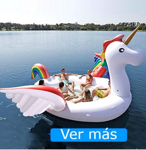 Flotadores gigantes Amazon unicornio isla