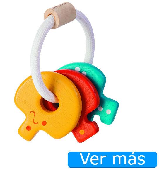 Juguetes de madera sonajero: llaves de Plan Toys