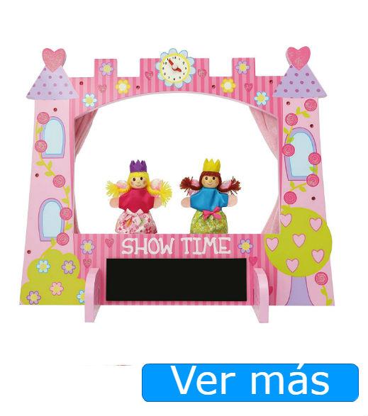 Teatro de marionetas castillo rosa de Lucy Locket