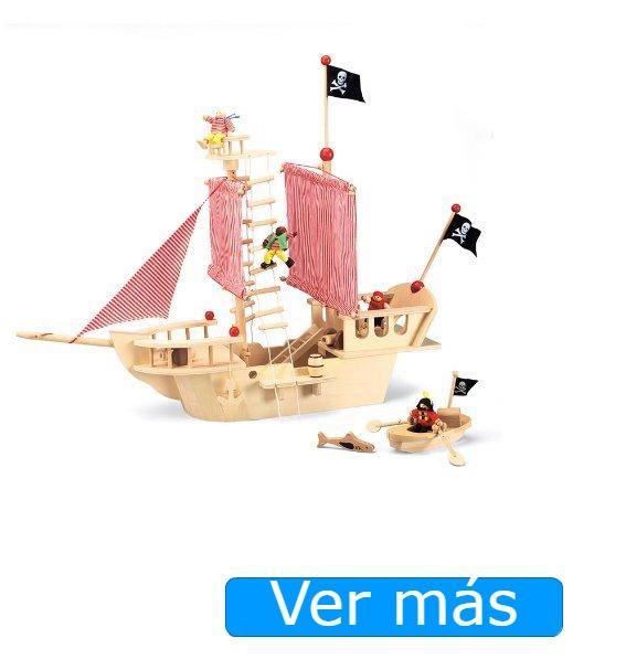 Alternativas al barco pirata Playmobil: barco Estia de madera