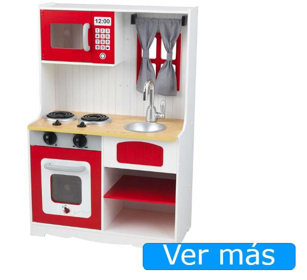 Cocinitas de madera Kidkraft blanca y roja