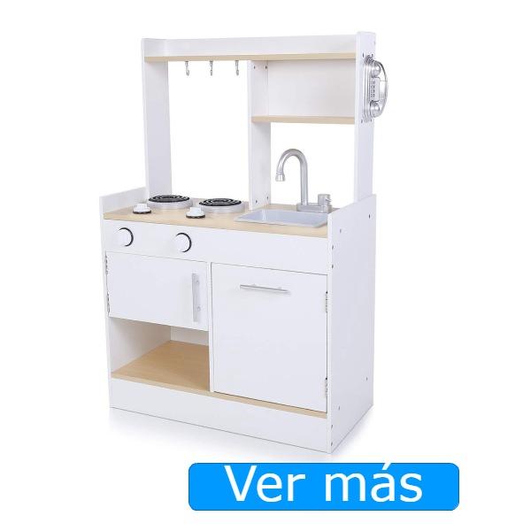 Cocinitas de madera baratas Baby Vivo: blanca