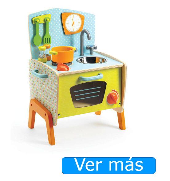 Cocinitas de madera baratas Djeco: la cocina de Gaby