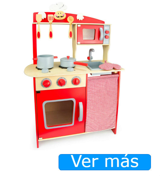 Cocinitas de madera baratas: Leomark roja