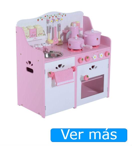 Cocinitas de madera rosa Homcom