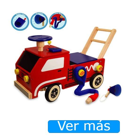 Correpasillos de madera camión de bomberos I'm Toy