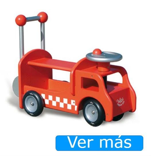 Correpasillos de madera camión de bomberos Vilac