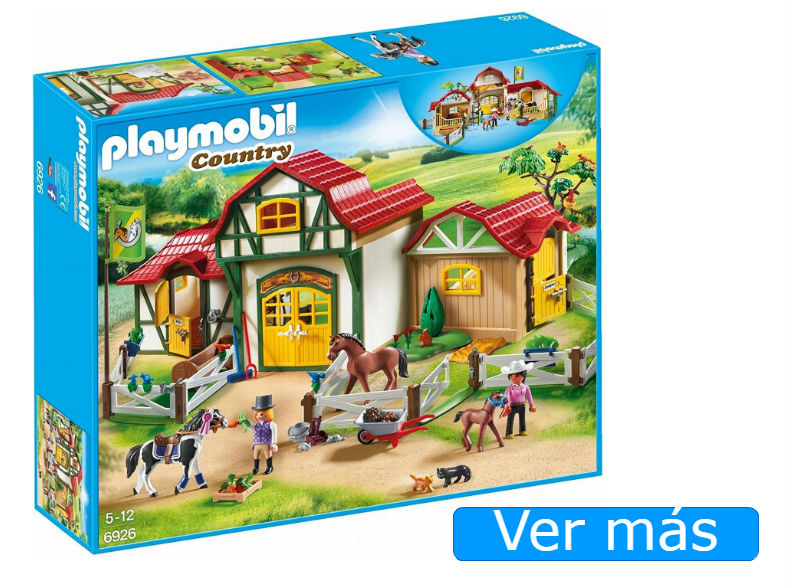 Granja Playmobil de caballos