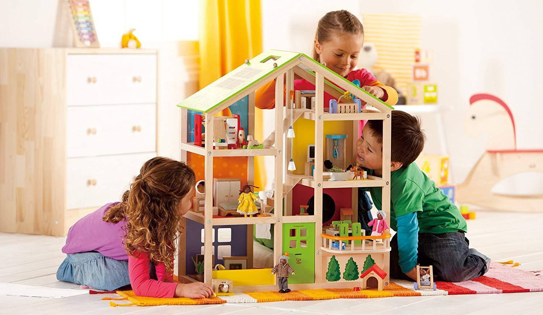 Juguetes no sexistas: casa de muñecas Hape