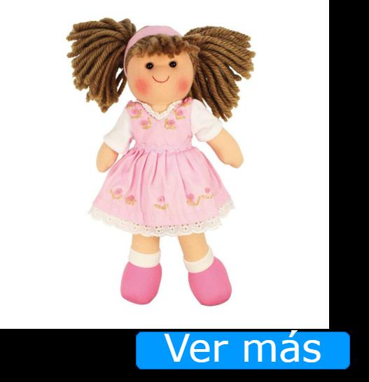 Muñecas de trapo: muñeca rosa de Bigjigs