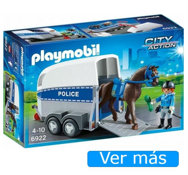 Playmobil Policia con caballo