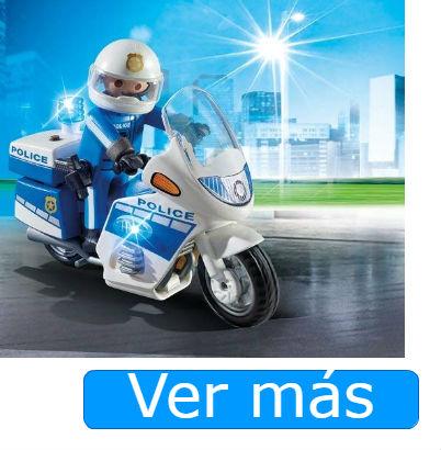 Playmobil policía con moto