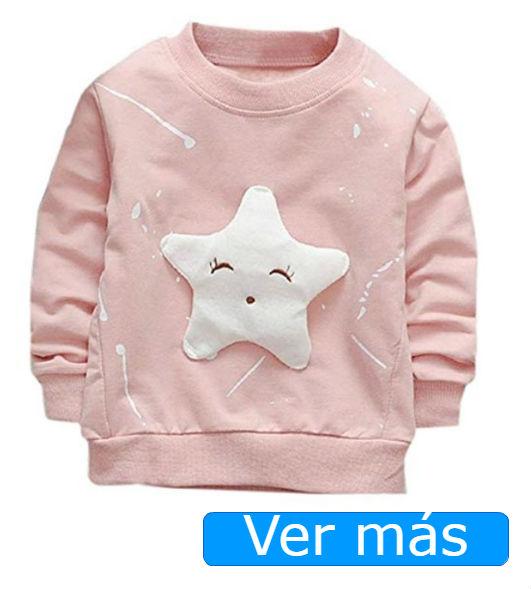 Sudaderas baratas: bebé rosa