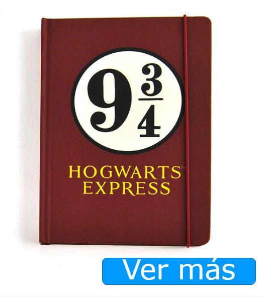 Cosas de Harry Potter: cuaderno expreso de Hogwarts