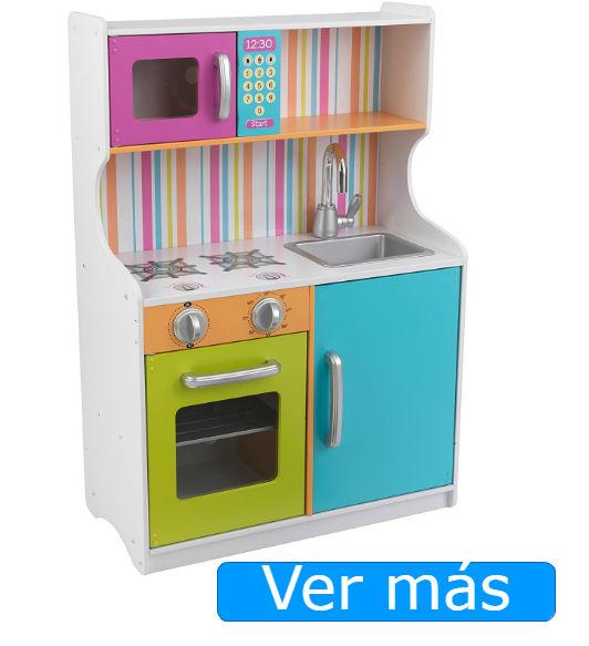 Black Friday juguetes cocinita de madera Kidkraft colores
