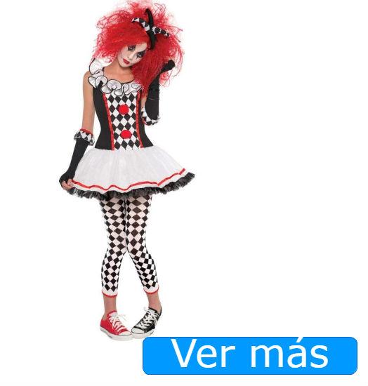 Disfraces de Halloween para niñas: arlequín