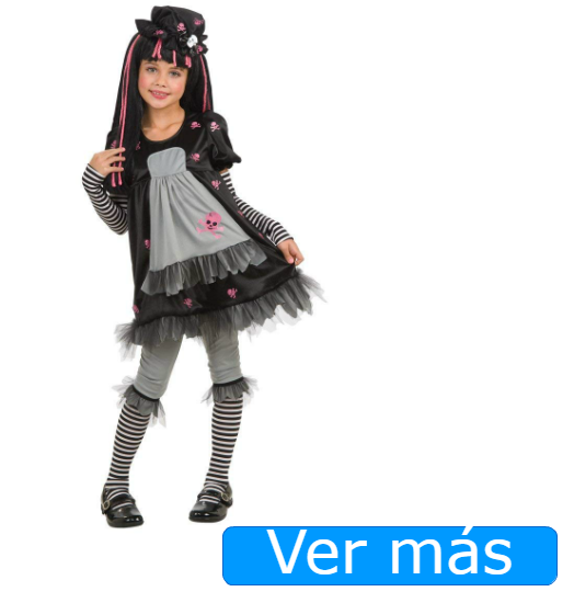 Disfraces de Halloween para niñas: muñeca siniestra