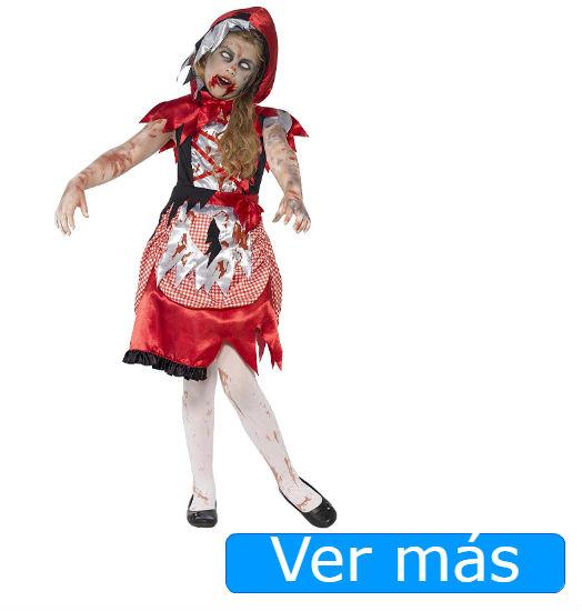 Disfraces de Halloween para niños: Disfraz Halloween niña caperucita zombie