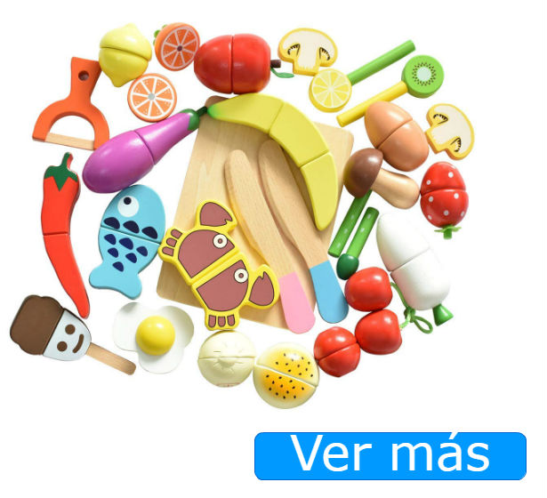 Juguetes de cocina: alimentos de madera