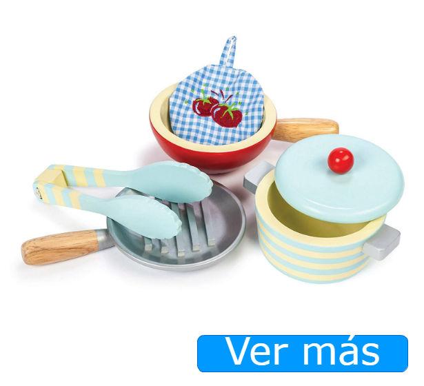Utensilios de cocina de juguete de madera Le Toy Van