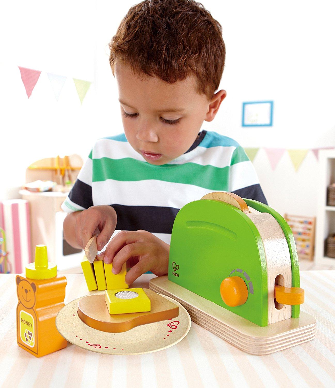 Utensilios de cocina de juguete de madera para niños