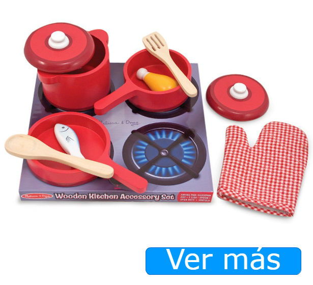 Juguetes de cocina: utensilios de cocina de juguete Melissa Doug