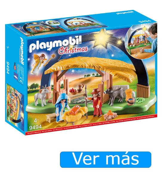 Belén Playmobil con estrella con luz